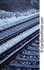 Train Tracks in Snow