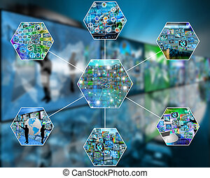 link - Many abstract images on the theme of computers,...