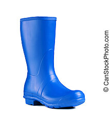 rubber boot isolated on white