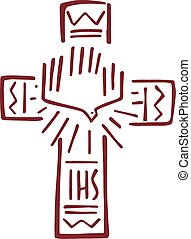 Cross of life d - Hand drawn vector illustration or drawing...