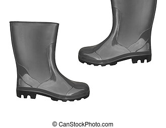rubber boots black color