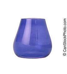Blue vase isolated on white background