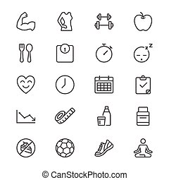 Health care thin icons - Simple vector icons. Clear and...