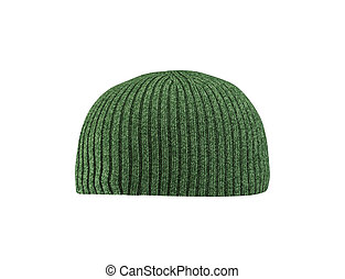 green hat isolated on white