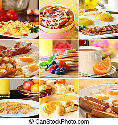 Breakfast collage - Collage of beautiful breakfast images.
