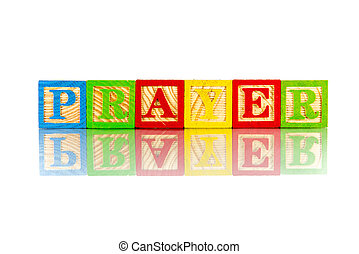 prayer word reflection on the white background