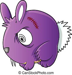 Vampire Bunny Rabbit Vector art - Vampire Bunny Rabbit...