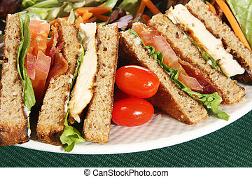 Clubhouse sandwich closeup