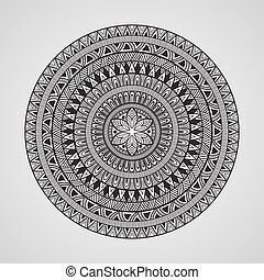 Vector Hand Drawn Doodle Mandala, all brushes included, you...