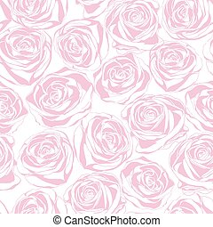 Seamless abstract pink background with roses