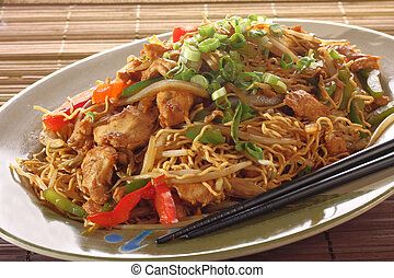 Chicken chow mein meal