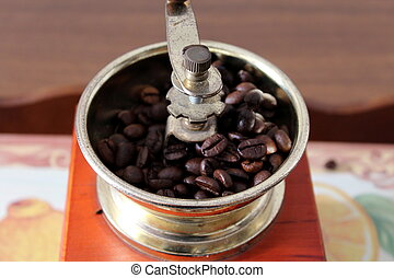 Coffee grinder with as o