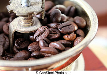 Coffee grinder with as once - How did the coffee once They...