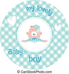Cute little baby pattern - Cute little baby in a pretty...
