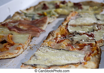 pizza - take away pizza: typical neapolitan pizza roll with...