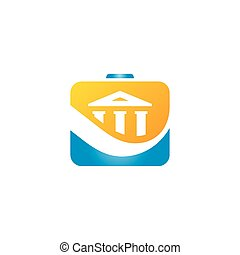 Finance bank portfolio vector sign - Branding Identity...