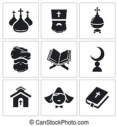 Religion confessions Icon set - Religion Icon collection on...