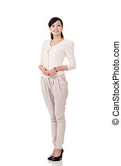 Asain business woman - Young Asian business woman, full...