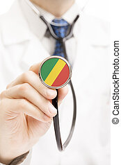 National flag on stethoscope conceptual series - Republic of...