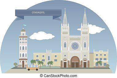 Guayaquil, Ecuador. Largest and the most populous city in...