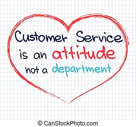 Customer Service - Sketch words of customer service