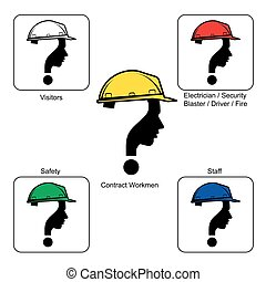 capacete,  -, local, cores, construção, segurança