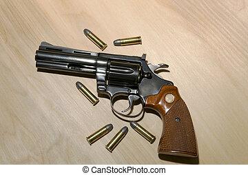Revlover in 38 Special - A blue steel .38 caliber revolver...