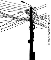pole - illustration of electric pole isolated