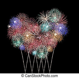 Mix Fireworks or firecracker in heart Shape - Mix Fireworks...