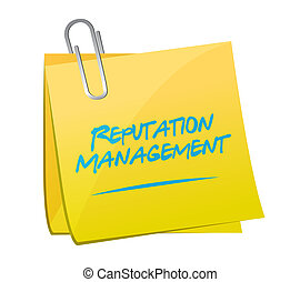 reputation management memo post illustration design over a...
