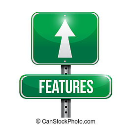 features road sign illustration design