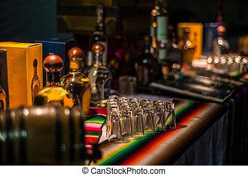 Tequila, acontecimiento, en, Mexico., Mezcal, y, Tequila,...