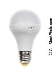 Round LED lamp Isolate on White