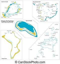 Chagos Archipelago map - Chagos Archipelago is a group of...