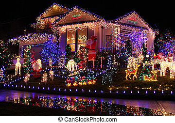 Christmas lights - Beautiful Christmas lights display.