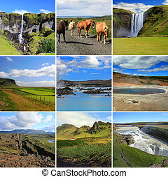 Beautiful Iceland - Composite of some of Icelands most...