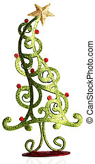 Christmas tree - Contemporary Christmas tree ornament.