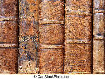 Antique books  - Truly antique leather bound books.