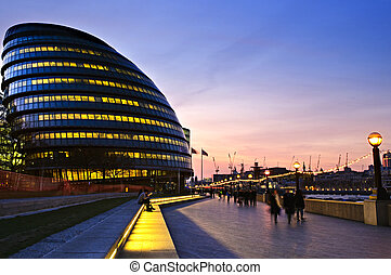 London city hall at night - New London city hall at night...