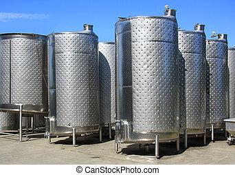 Lagar, fermentación, tanques