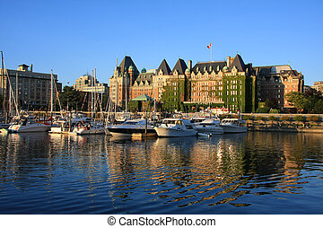 Victoria, B.C.  - Victoria's beautiful inner harbor