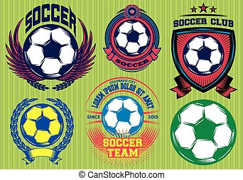 Set of Soccer Football Badge and Logo Design Templates