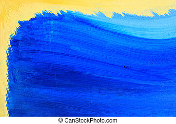 Blue and yellow background. - Blue painted background with...