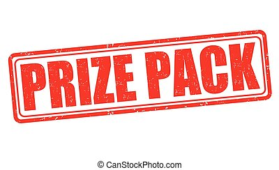Prize pack stamp - Prize pack grunge rubber stamp on white...
