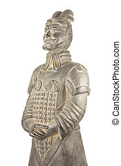 Terracotta warrior - Isolated Terracotta Warrior from...