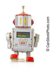 Robot vintage toy back