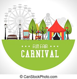 Carnival design over white background vector illustration -...