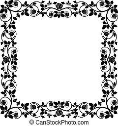 frame  - silhouette frame roses