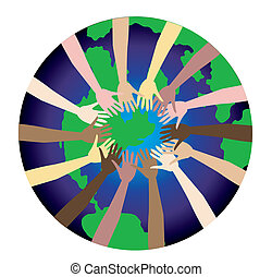 World Peace 2 - World Peace shown through a diverse set of...