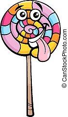 lollipop candy cartoon illustration